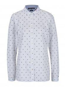 Bílá dámská vzorovaná fitted fit košile Tommy Hilfiger