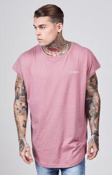 Tričko Illusive London Half Sleeve Dusky růžová M