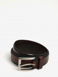 Černo-hnědý kožený pásek Blend