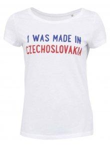 Bílé dámské triko ZOOT Originál I Was Made in Czechoslovakia