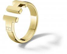 Tommy Hilfiger Luxusní zlatý prsten z oceli TH2700863 56 mm