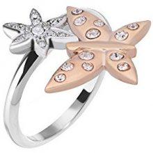 Morellato Ocelový bicolor prsten s motýlkem Natura SAHL06 54 mm