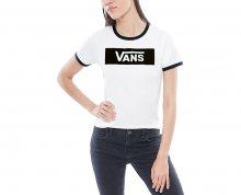 VANS Dámské triko Open Road White/Black VA3IQIYB2 XL