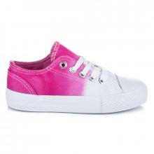 Dětské dvoubarevné bílo-růžové tenisky na jaro