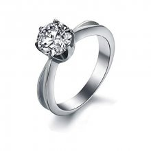 Troli Ocelový prsten s krystalem KRS-174 52 mm