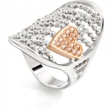 Morellato Ocelový bicolor prsten Cuoremio SADA09 54 mm