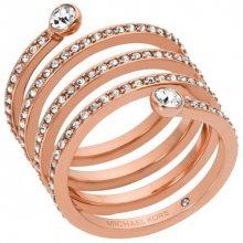 Michael Kors Pozlacený ocelový prsten s krystaly MKJ4724791 57 mm