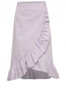 Světle fialová sukně s volány Miss Selfridge