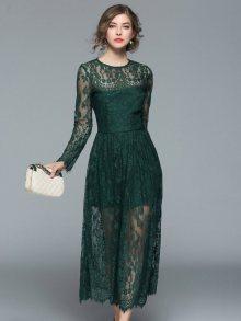 Ferraga Dámské šaty QE311 Green