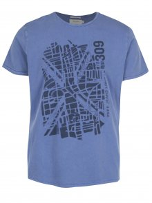 Modré pánské regular tričko Pepe Jeans GANTON