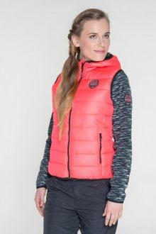 Sam 73 Dámská vesta s kapucí Sam 73 růžová neon S