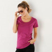 Blancheporte Jednobarevné tričko s krátkými rukávy purpurová 46/48