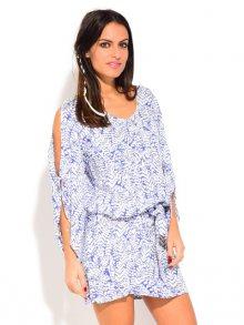 Coton du Monde Dámské šaty 6760 - LUCIANA BLANC/BLEU