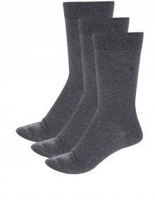 Sada tří párů pánských ponožek v šedé barvě CR7