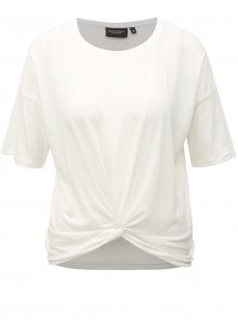 Bílé dámské tričko s uzlem Broadway Dominique
