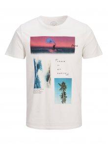 Krémové tričko s potiskem Jack & Jones