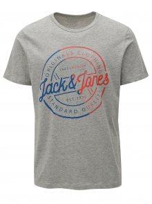Světle šedé tričko s potiskem Jack & Jones