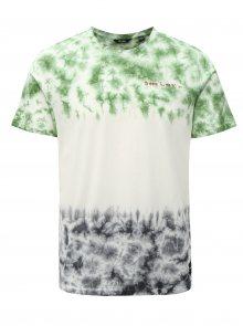 Zeleno-krémové tričko ONLY & SONS Tye