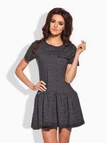 Lemoniade Dámské šaty L143_ciemnoszary-darkgrey