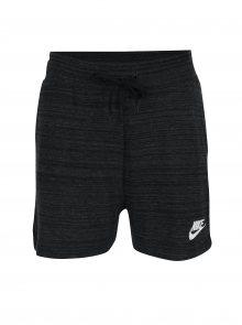 Černé dámské žíhané kraťasy Nike Sportswear Advance 15