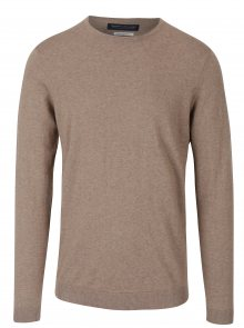 Béžový žíhaný lehký svetr Jack & Jones Luke