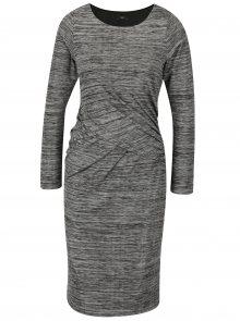Šedé žíhané šaty s řasením M&Co