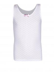 Bílá puntíková holčičí košilka 5.10.15.