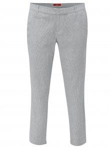 Modré dámské lněné slim fit chino kalhoty s.Oliver