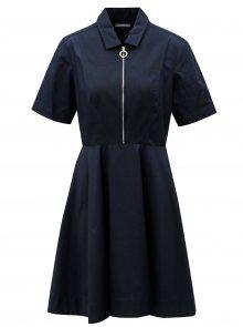 Tmavě modré šaty se zipem Tommy Hilfiger