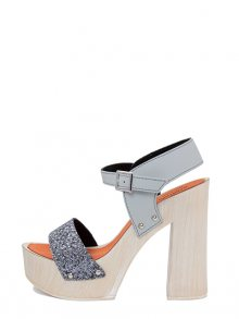 Marradini Dámské sandály na podpatku 662_227_GLITTER_ANTRAC_CAUCCIU_GRIGIO