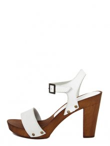 Marradini Dámské sandály na podpatku 301_210_NABUK_BOSTON_BIANCO