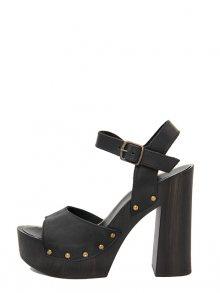 Marradini Dámské sandály na podpatku 901_227_NABUK_BOSTON_NERO