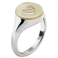 Morellato Ocelový bicolor prsten Monetine SAHQ09 56 mm