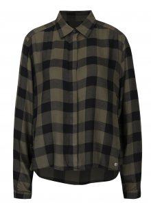 Khaki dámská volná kostkovaná košile Garcia Jeans