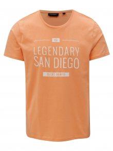 Oranžové pánské tričko s potiskem Broadway Ellwood