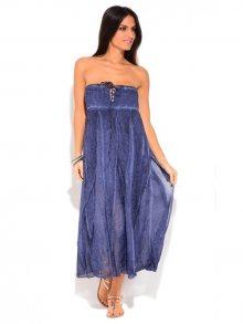 LA FILLE DU COUTURIER Dámské šaty 6770 - JUPE BLANCHE K7030H MARINE