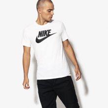 Nike Tričko Ss M Nsw Tee Icon Futura Muži Oblečení Trička 696707-104 Muži Oblečení Trička Bílá US XL
