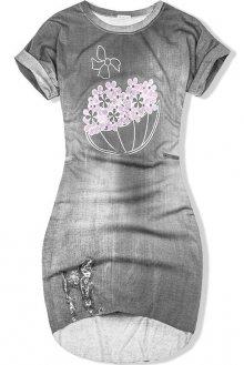 Šedé jeans bavlněné šaty