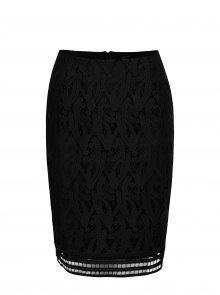 Černá pouzdrová krajková sukně VERO MODA Exclusive