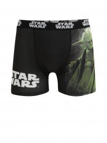 Zeleno-černé pánské boxerky s potiskem Star Wars