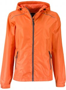 Dámská nepromokavá bunda JN - Oranžová a šedá S