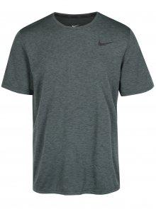 Tmavě zelené pánské funkční tričko s krátkým rukávem Nike