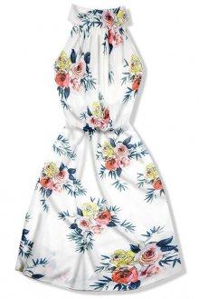 Šaty s potiskem růží