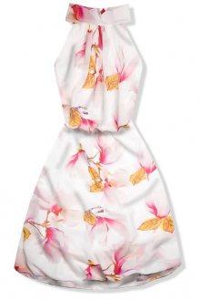 Šaty s potiskem magnolie
