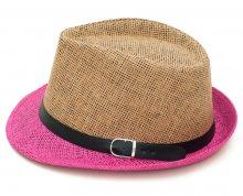 Art of Polo Letní klobouk dvoubarevný - béžovorůžový cz15160.12 58