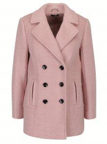 Světle růžový vlněný kabát M&Co
