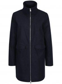 Tmavě modrý kabát se zipem Noisy May Minna
