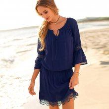 Blancheporte Macramé šaty temně modrá 38