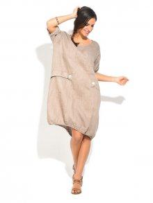 Lin Nature Dámské šaty 6743 - ROBE MICHELLE P16683 TAUPE