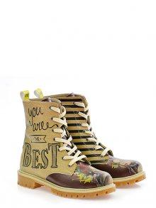 GOBY Dámské kotníčkové boty TMB1035_Printed - Colourful\n\n